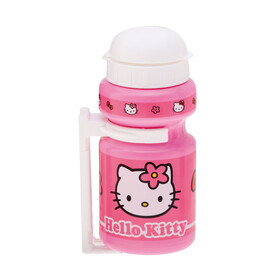 Bike Fashion Hello Kitty Trinkflasche 300ml mit Halter pink